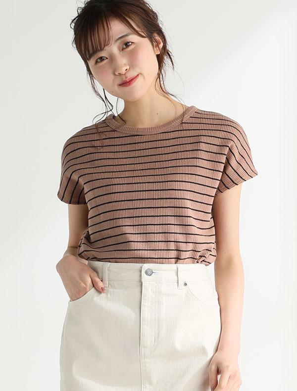 フレンチ袖Tシャツ
