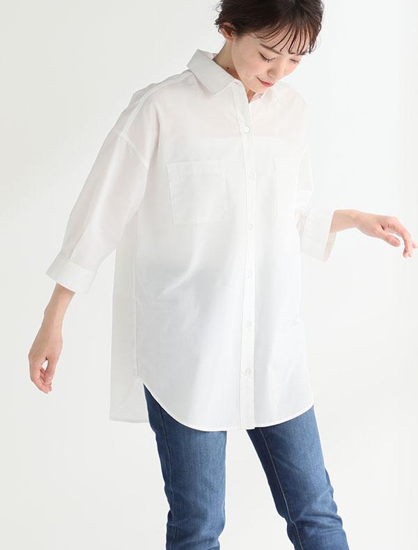 7分袖チュニックシャツ